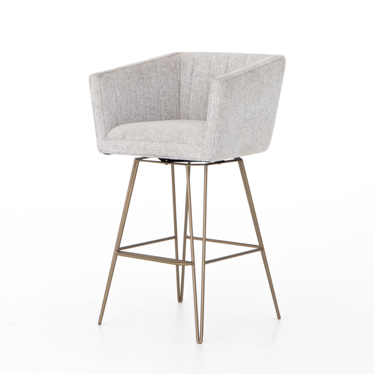 Rooney Swivel Stool-Elder Sable-Ba