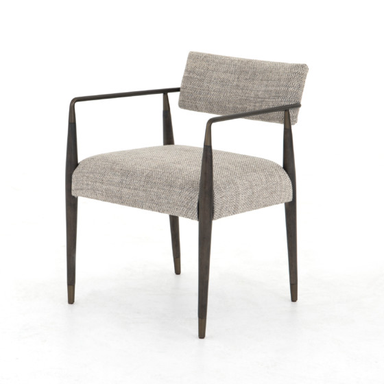 Waldon Dining Chair-Thames Coal - metal and wood chair