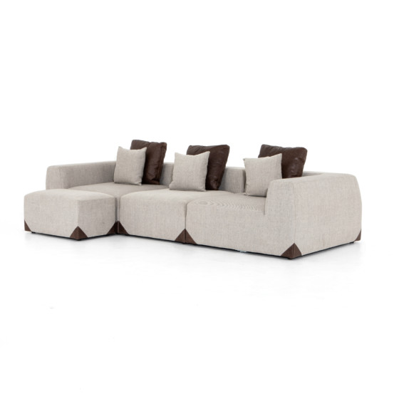 Madden 3 Pc Sectional With Ottoman-Gabar