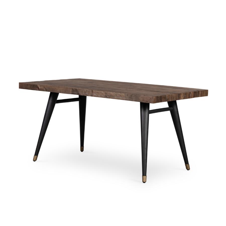"Bohemian Dining Table-63""-Rt Saddle Tan"