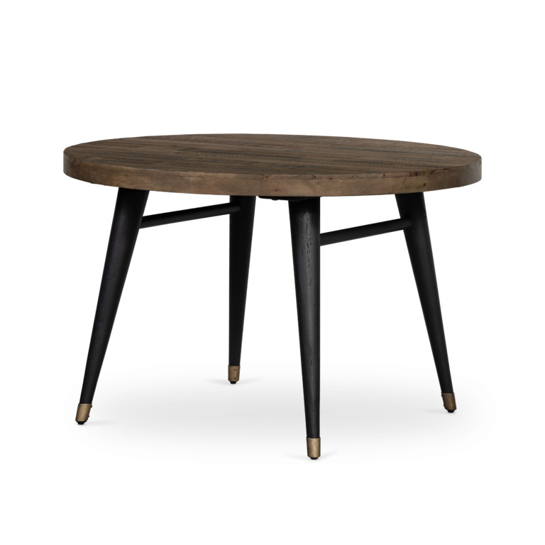 Bohemian Round Dining Table-R Saddle Tan