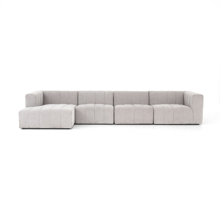 Langham Channeled 4-Pc Sectional-Laf Ch