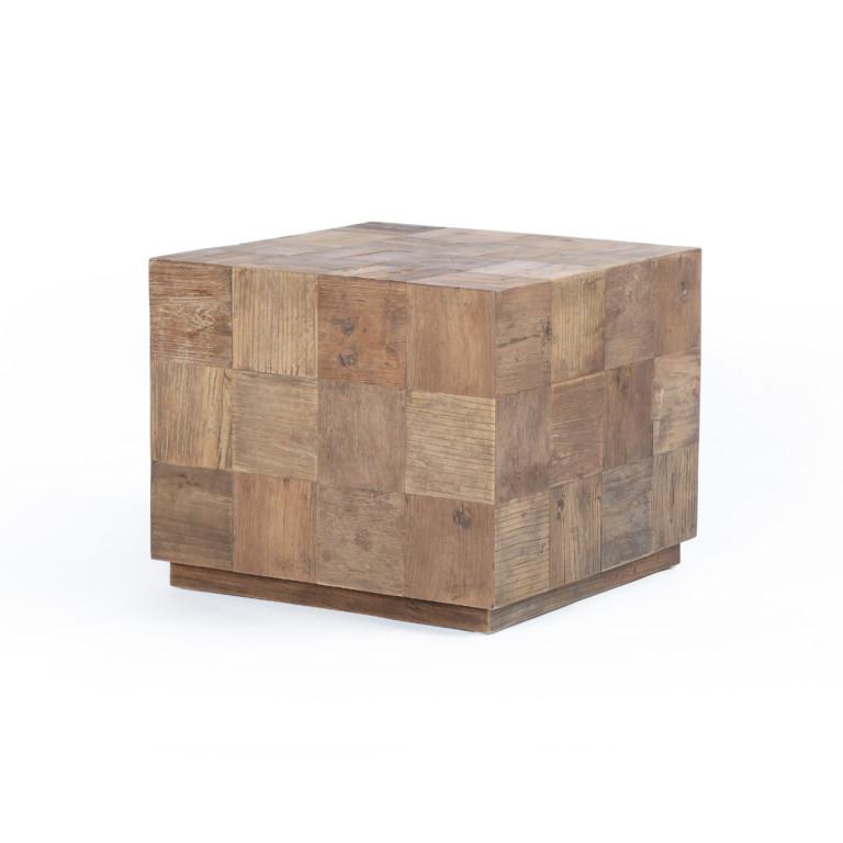 Avignon Cube Coffee Table-Untouched Elm