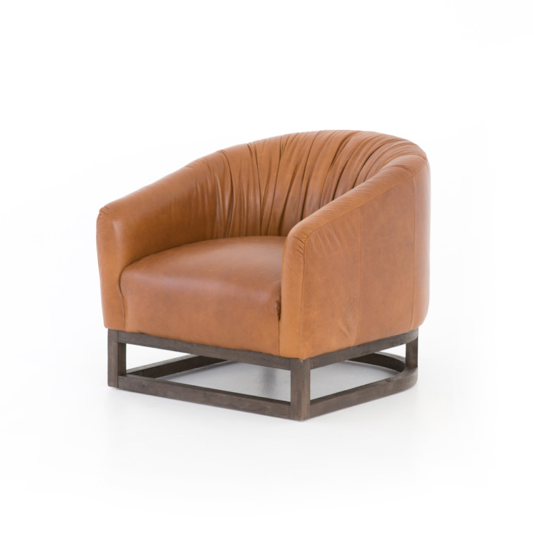 Kendall Leather Chair-Manhattan Sycamore
