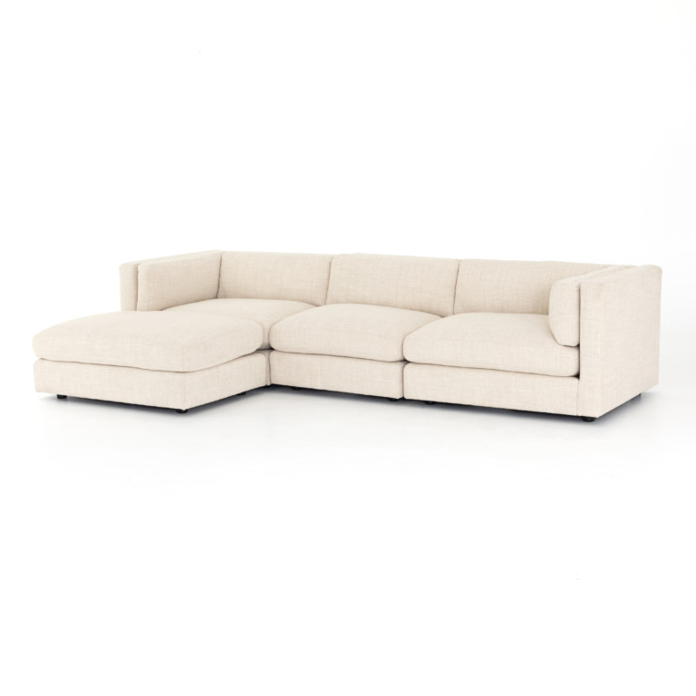 Cosette 3 Piece Sectional W/ Ottoman