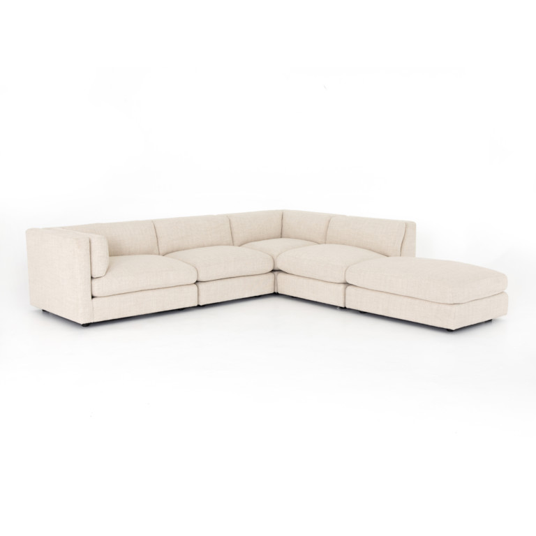 COSETTE 4 PIECE SECTIONAL W/ OTTOMAN