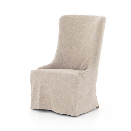 Elouise Slip Covered Dining Chair-Stone