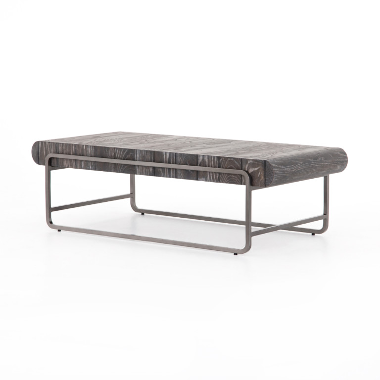 Sled Coffee Table-Drifted Brown