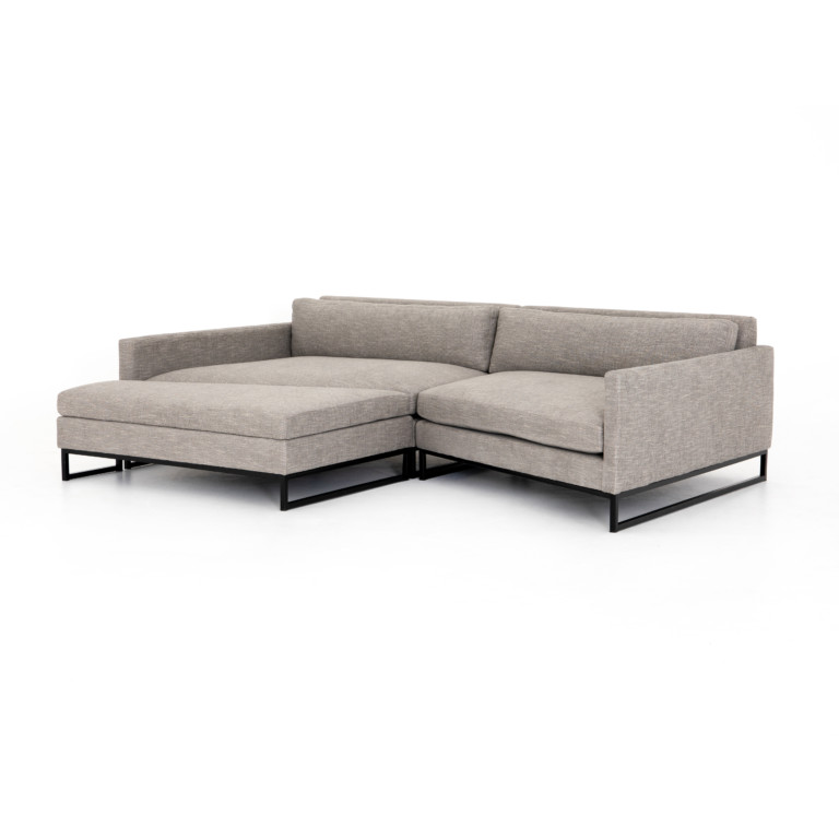 Drew 2 Pc Wedge Sectional W/Laf Ottoman
