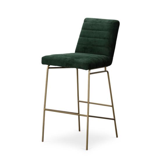 Jude Bar Stool-Emerald Worn Velvet