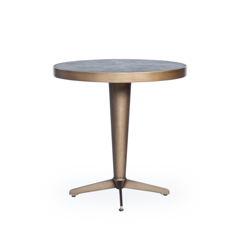 Shagreen Side Table-Antique Brass