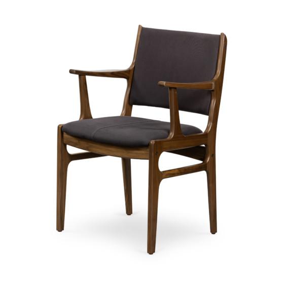 Bina Arm Chair-Dark Blue Canvas
