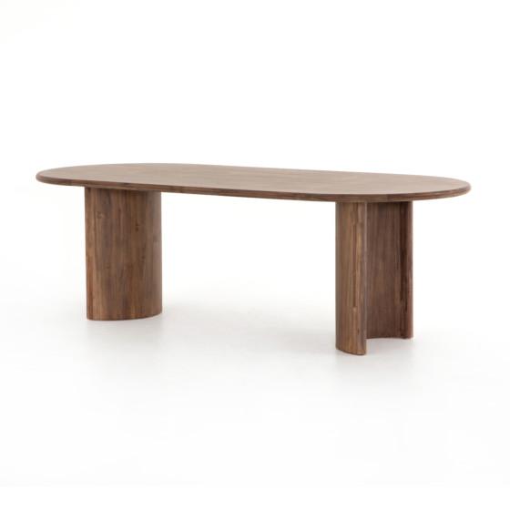 Paden Dining Table-Seasoned Brown Acacia