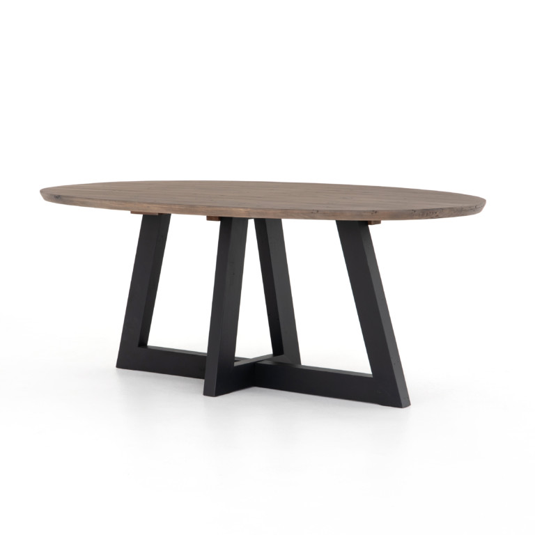 Pryce Oval Dining Table-Sundried Ash